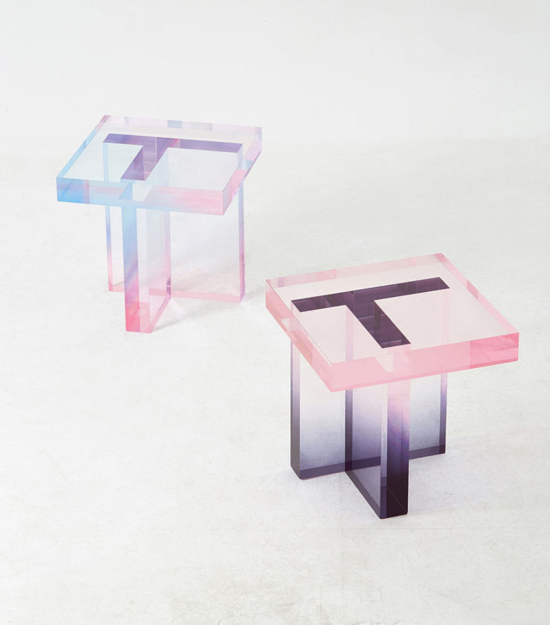 Crystal table series by Saerom Yoon (via design-milk.com)