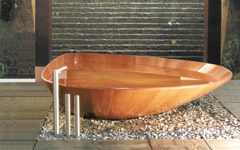Ocean Shell tub by Bagno Sasso Mobili (via www.bagnosasso.com)