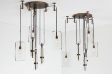 Counterweight chandelier by Alison Berger