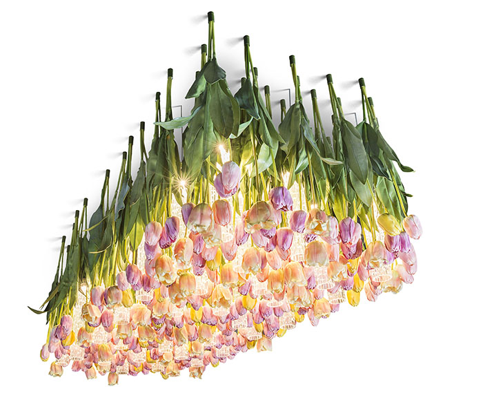 Flower Power chandelier from VGnewtrend (via www.digsdigs.com)
