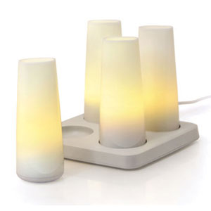 Candela Glow 4 Rechargeable Lights by OXO  (via www.furniturefashion.com)