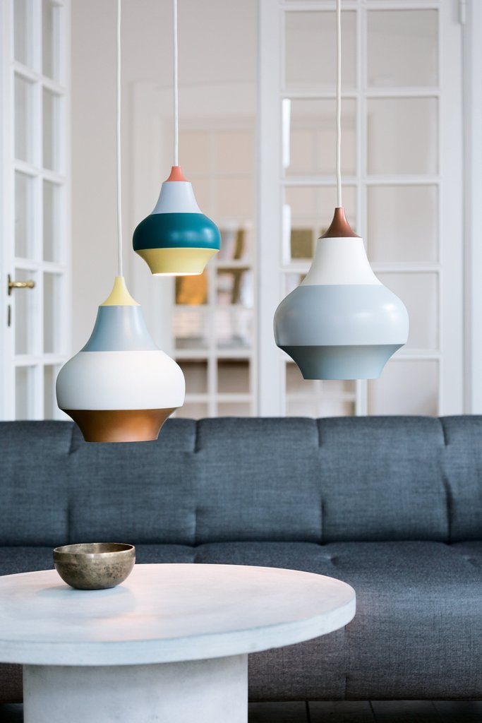 Cirque lamps are inspired by hot air balloons and carousels of Tivoli amusement park in Copenhagen