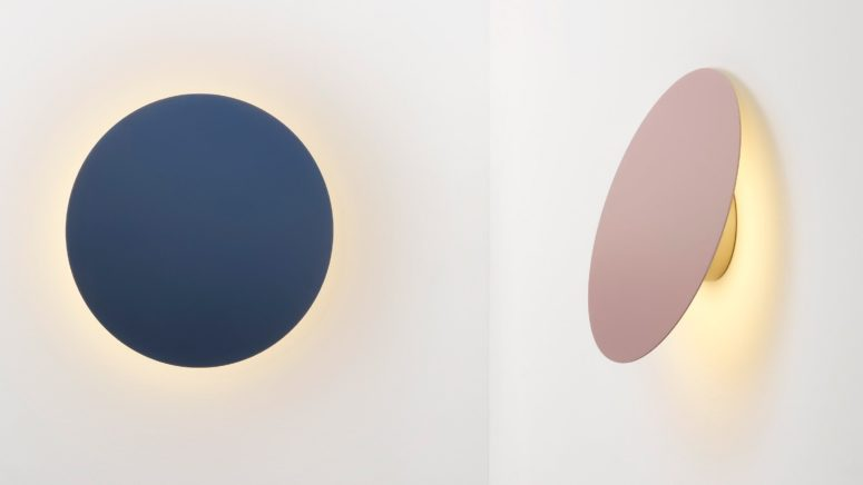 Polar Wall Lights in inspired by the phases of the moon and it pivots to imitate them