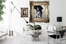 01 This apartment belongs to a writer, photographer and fashionista, and it's clearly seen from the design, which is Nordic with glam and vintage touches