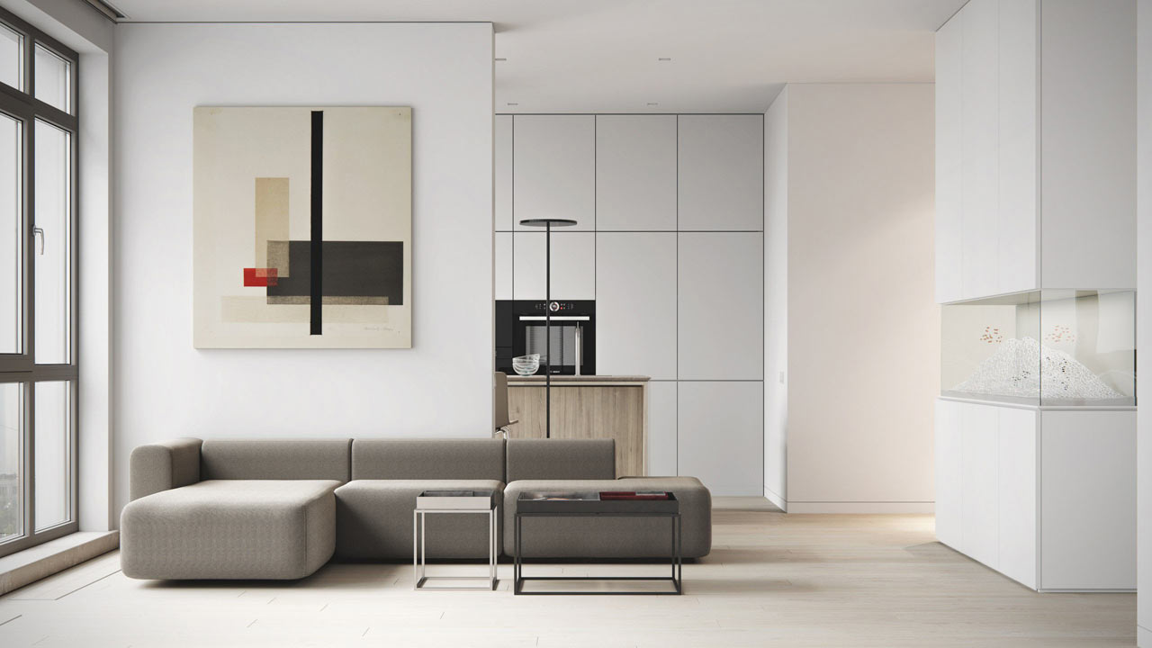Minimalist Apartment With A Neutral Color Palette