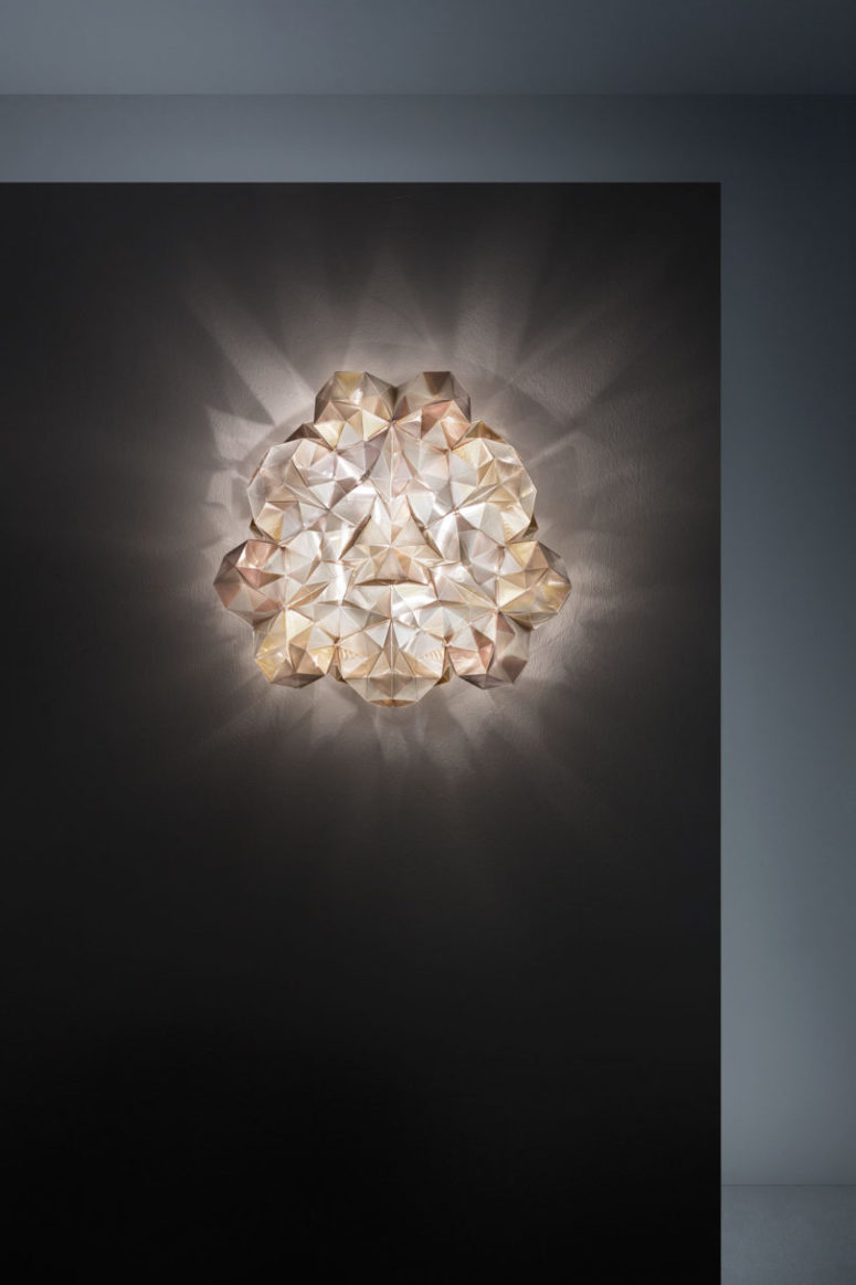 Each piece really looks like diamonds or crystals wherever they are attached - to the wall or ceiling