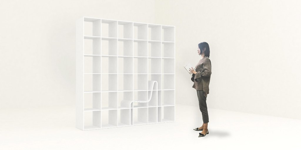 creative bookcase design