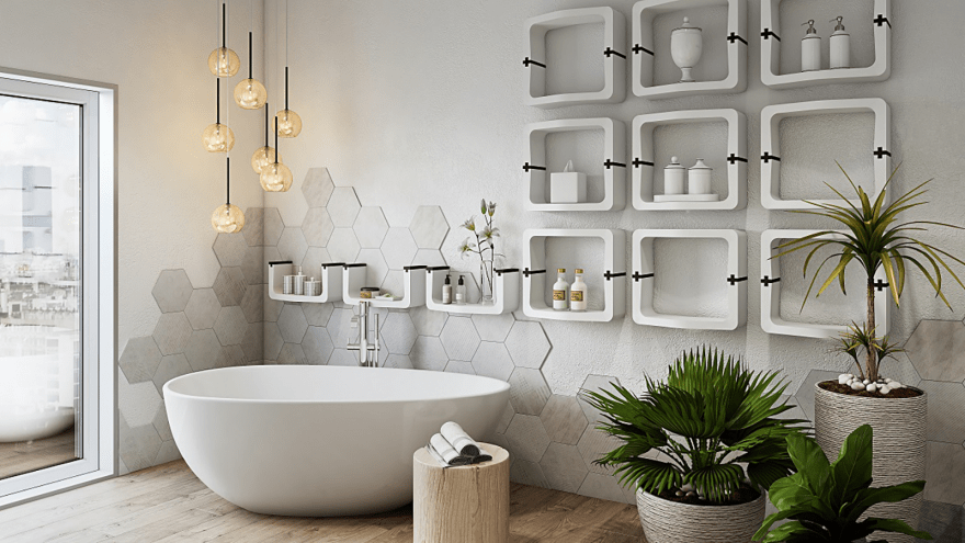 modular bathroom storage idea