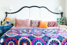 02 bold print bedspread and geo printed pillows to pair with