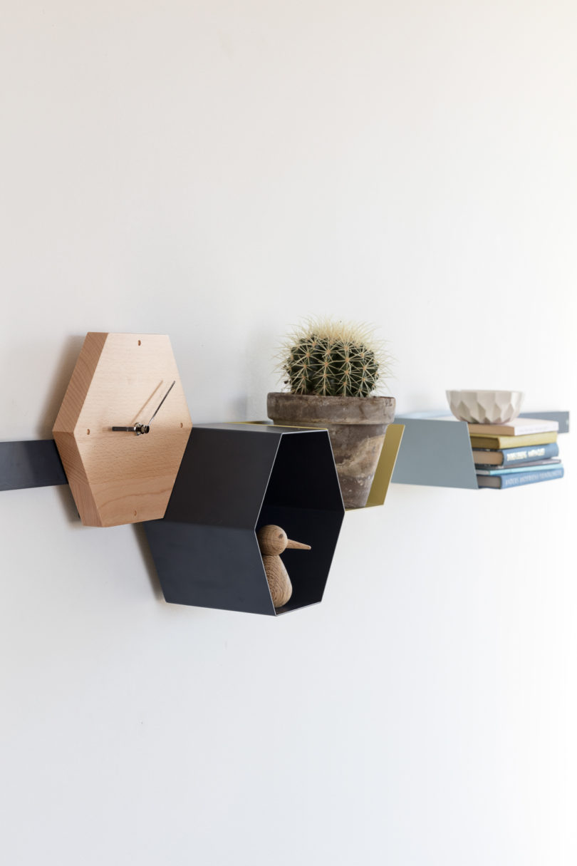 The shelves are simply colorful and plain, they can fit almost any modern ambience