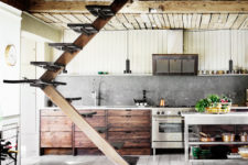 industrial looking kitchen island