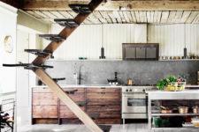 industrial looking kitchen island