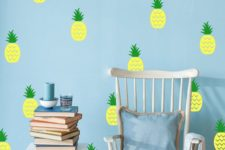 04 add cheer to your kid's room with such bold pineapple decals