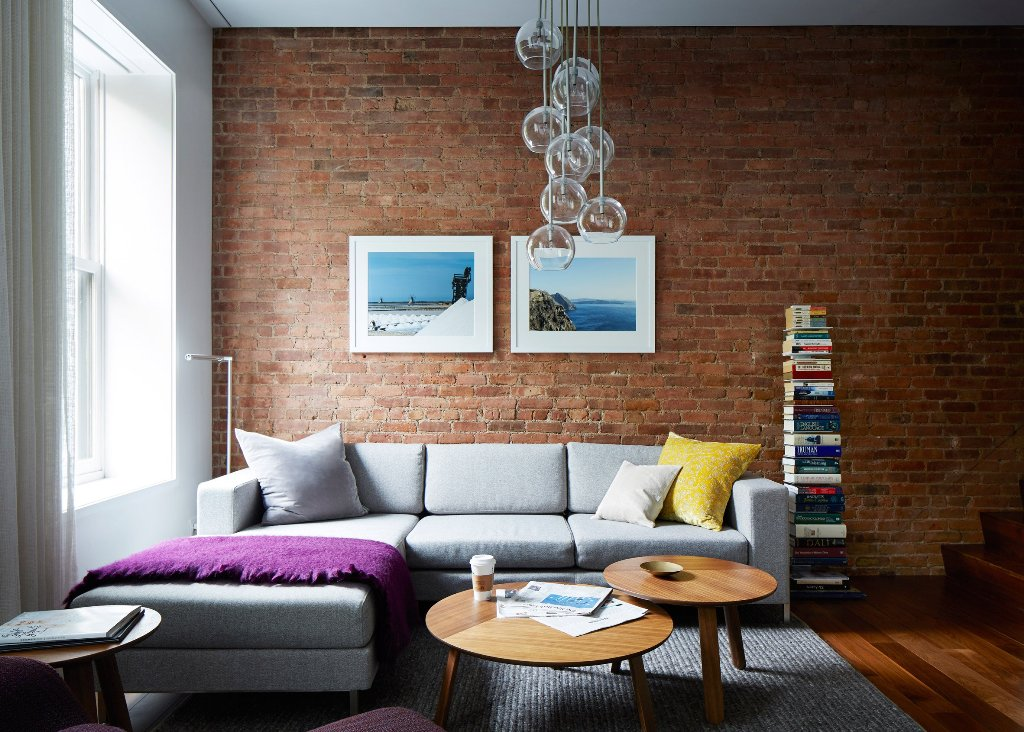 accent brick wall