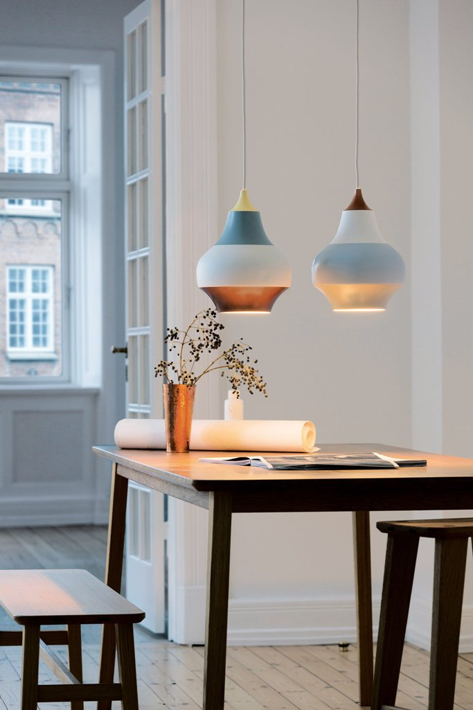 Add a bit of colorful stripes to your home decor with these cute lamps