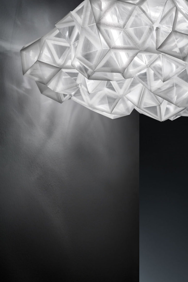Opt for a ceiling or a wall version to fit your space and enjoy the stunning crystal light