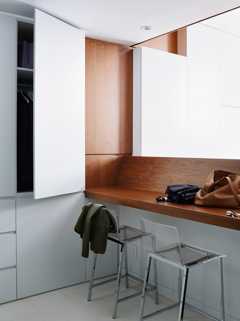 There's much storage space, and lightweight glass items don't clutter small spaces