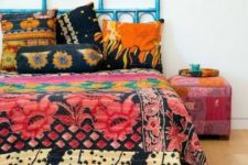 06 colorful printed bedding with large scale floral prints