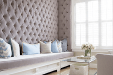 07 a diamond upholstery wall makes the space elegant and cozy
