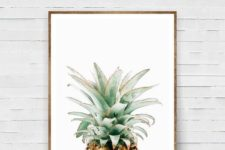 07 a watercolor pineapple wall art will cheer up any space