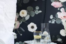 07 dark dramatic floral wallpaper for a gorgeous bedroom look