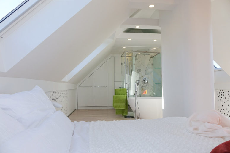 Attic windows provide much light