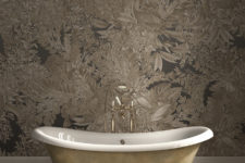 09 Chic botanical print wallpaper to make your bathroom stunning