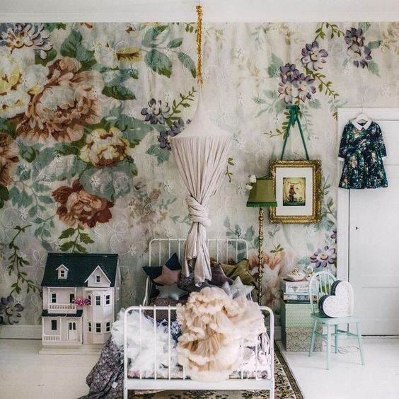 30 Stylish Ways To Use Floral Wallpaper In Your Home Digsdigs