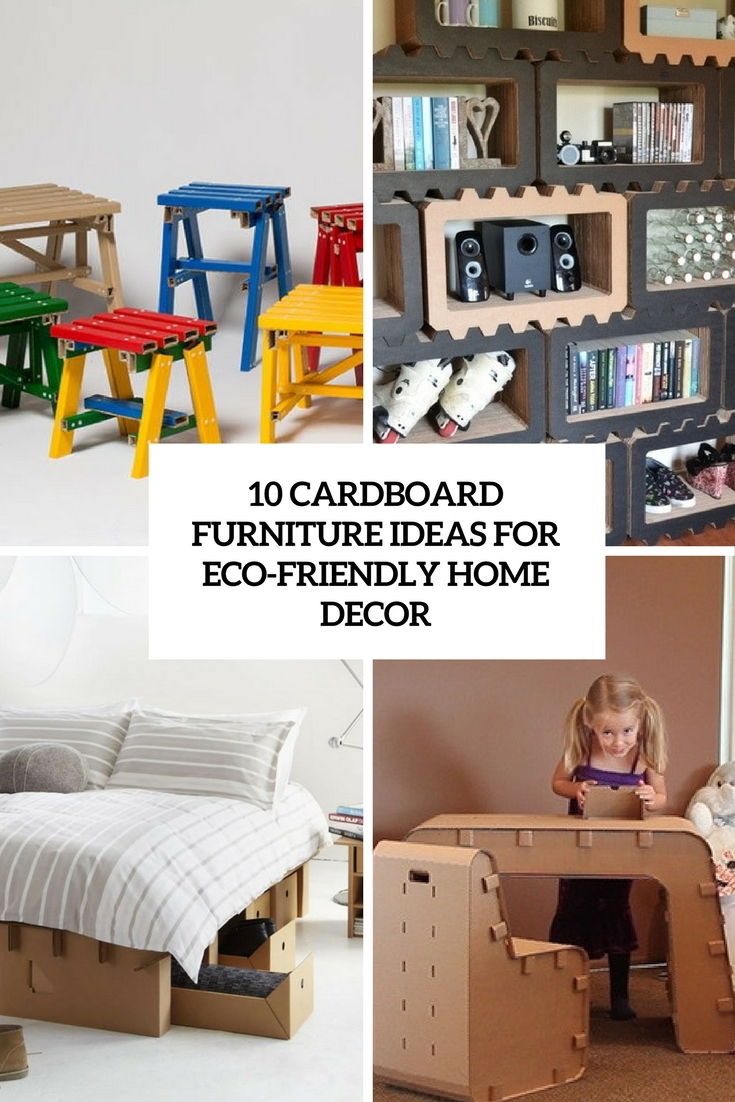 Cardboard furniture ideas for eco friendly home decor