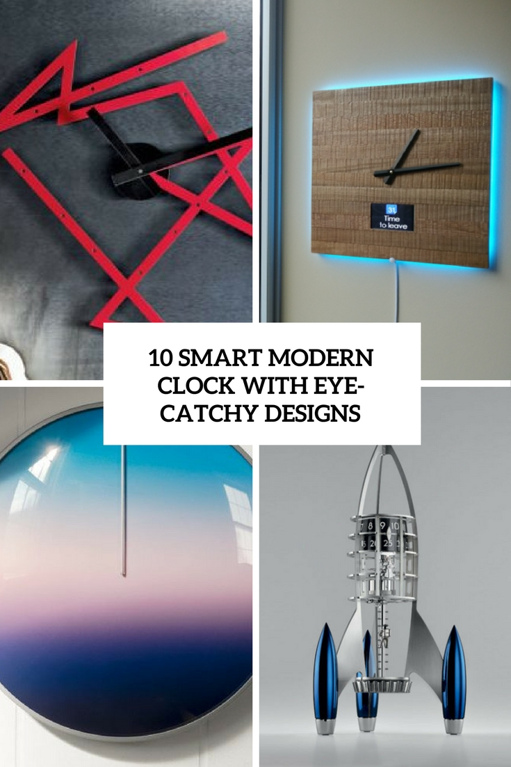 10 Smart Modern Clocks With Eye-Catching Designs