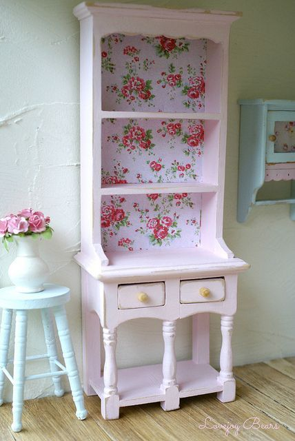French Country China Cabinet Display
