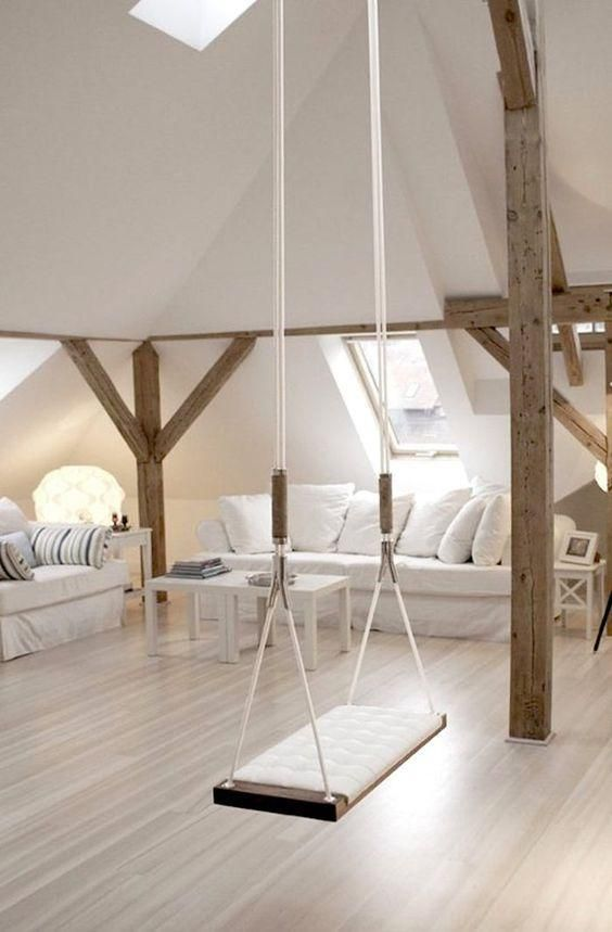a swing can highlight an attic space and make it more eye-catching