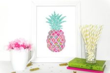 12 such a colorful pineapple art piece can be easily DIYed to add cheer