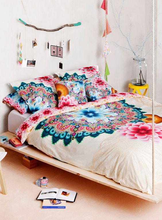 super bold mandala bedding set for eastern culture fans