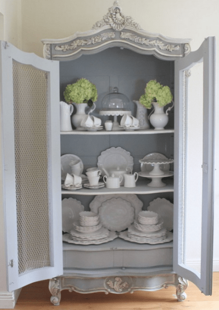 compartments vintage rock tulle cupboard interior mirror curtains the parts a your how decor mint inside digsdigs and ideas to in with