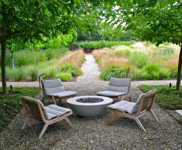 wooden lounge chairs with upholstery cover for an effortlessly chic backyard