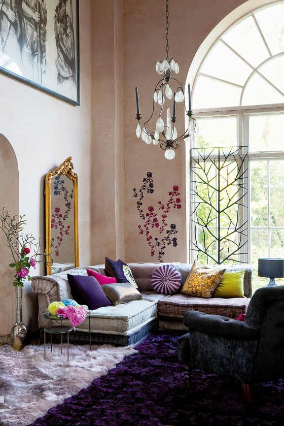 don't be afraid to blend seveal carpets to fit your color scheme