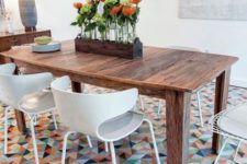 19 vinyl and linoleum tiles can be chic and eye-catchy whole reducing the noise