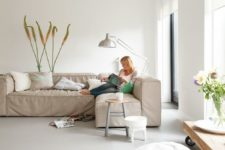 21 neutral linoleum floors will easily fit any interior