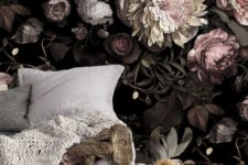 22 dark and shades of pink floral wallpaper to make a statement in a girl's space