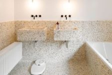 25 terrazzo bathroom and sinks is a great idea, it's durable, water-resistant and looks unusual
