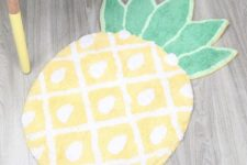 26 cheerful pineapple bathroom mat for a quirky touch in your bathroom