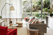 27 semi sheer curtains reduce the noise and cover the windows for privacy