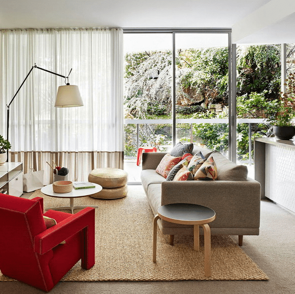 semi sheer curtains reduce the noise and cover the windows for privacy