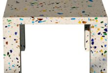 30 colorful terrazzo coffee table is a very eye-catchy idea