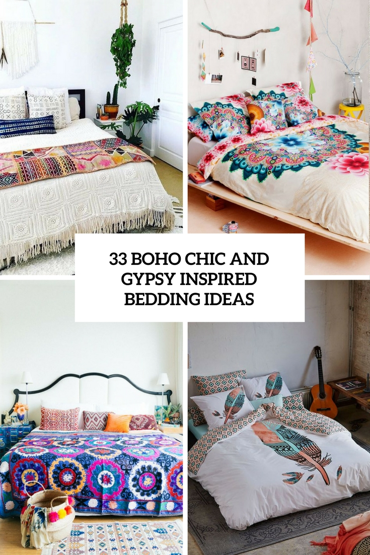 boho chic and gypsy inspired bedding ideas cover