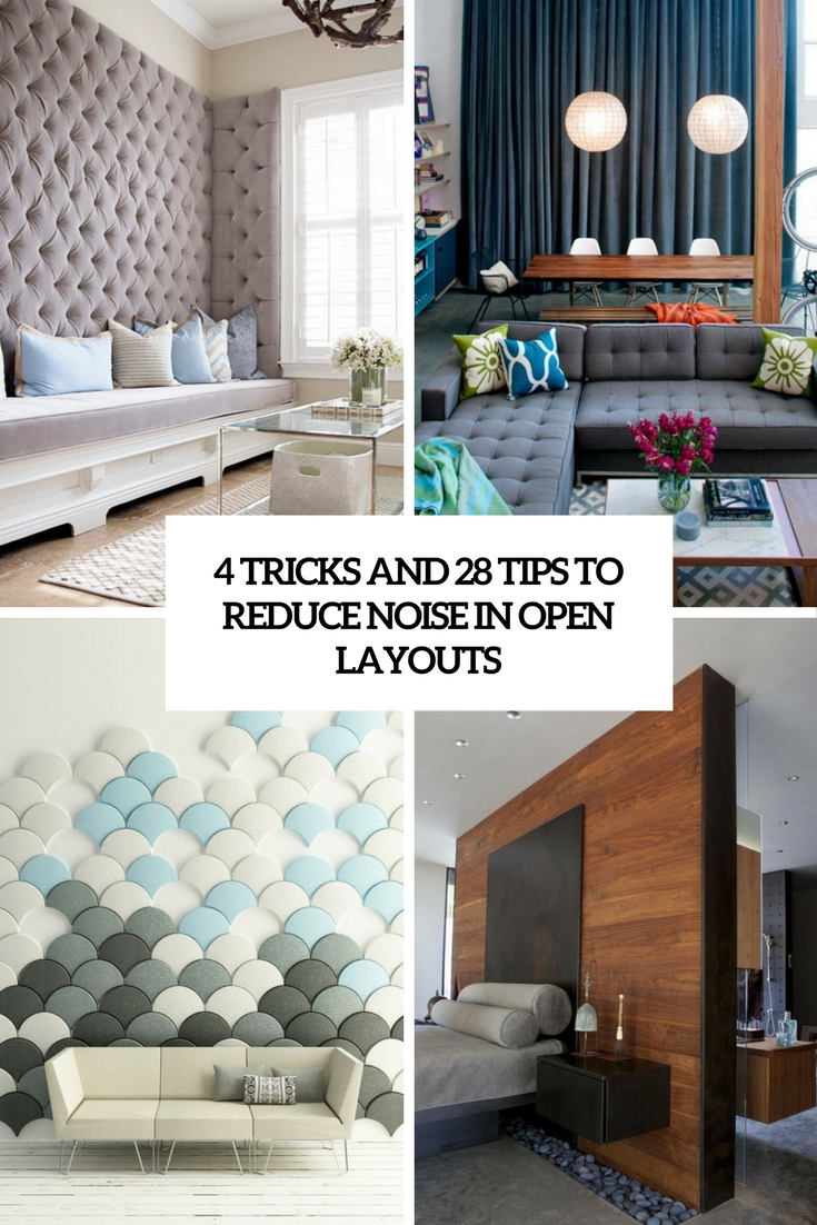 4 tricks and 28 examples to reduce noise in open layouts cover