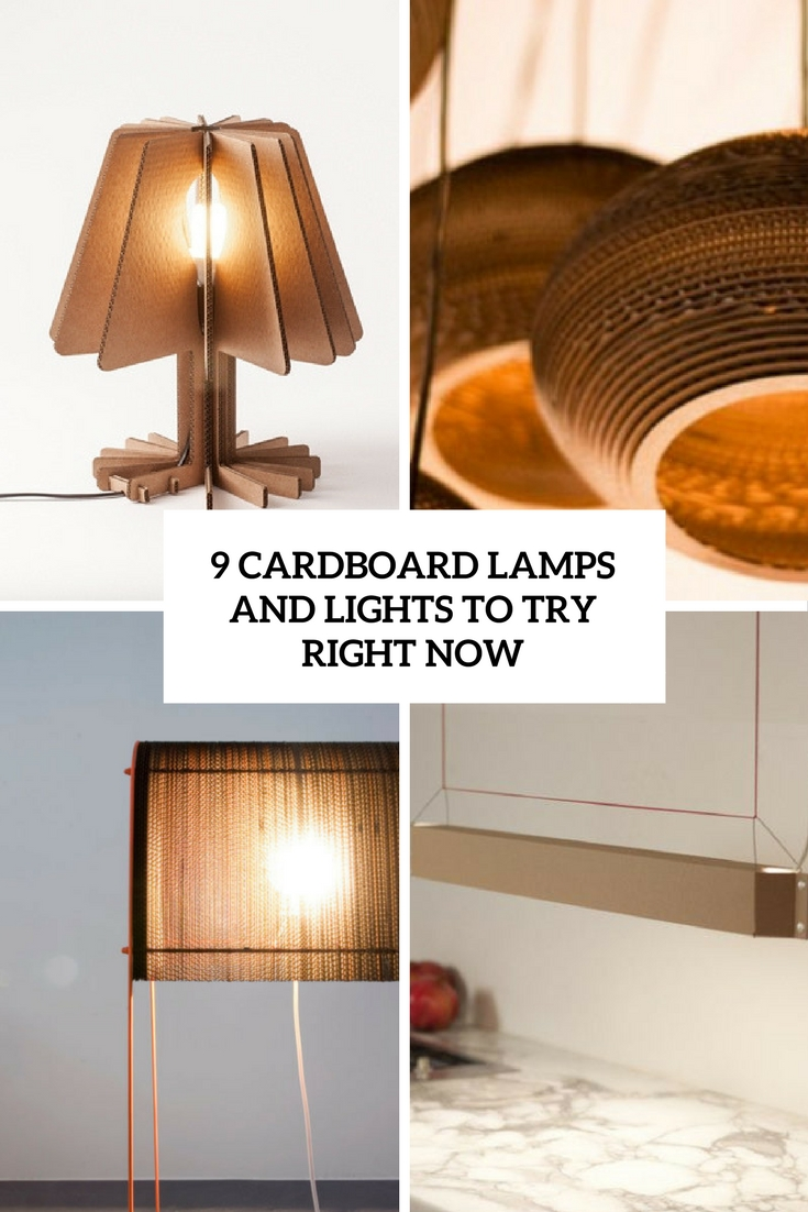 9 Cardboard Lamps And Lights To Try Right Now