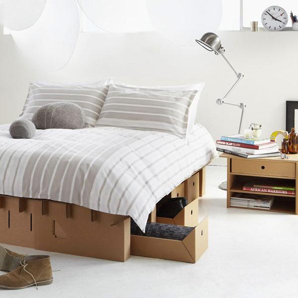 cardboard furniture line by Karton (via freshome.com)