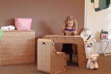 Kids Imagination Desk by The Cardboard Guys
